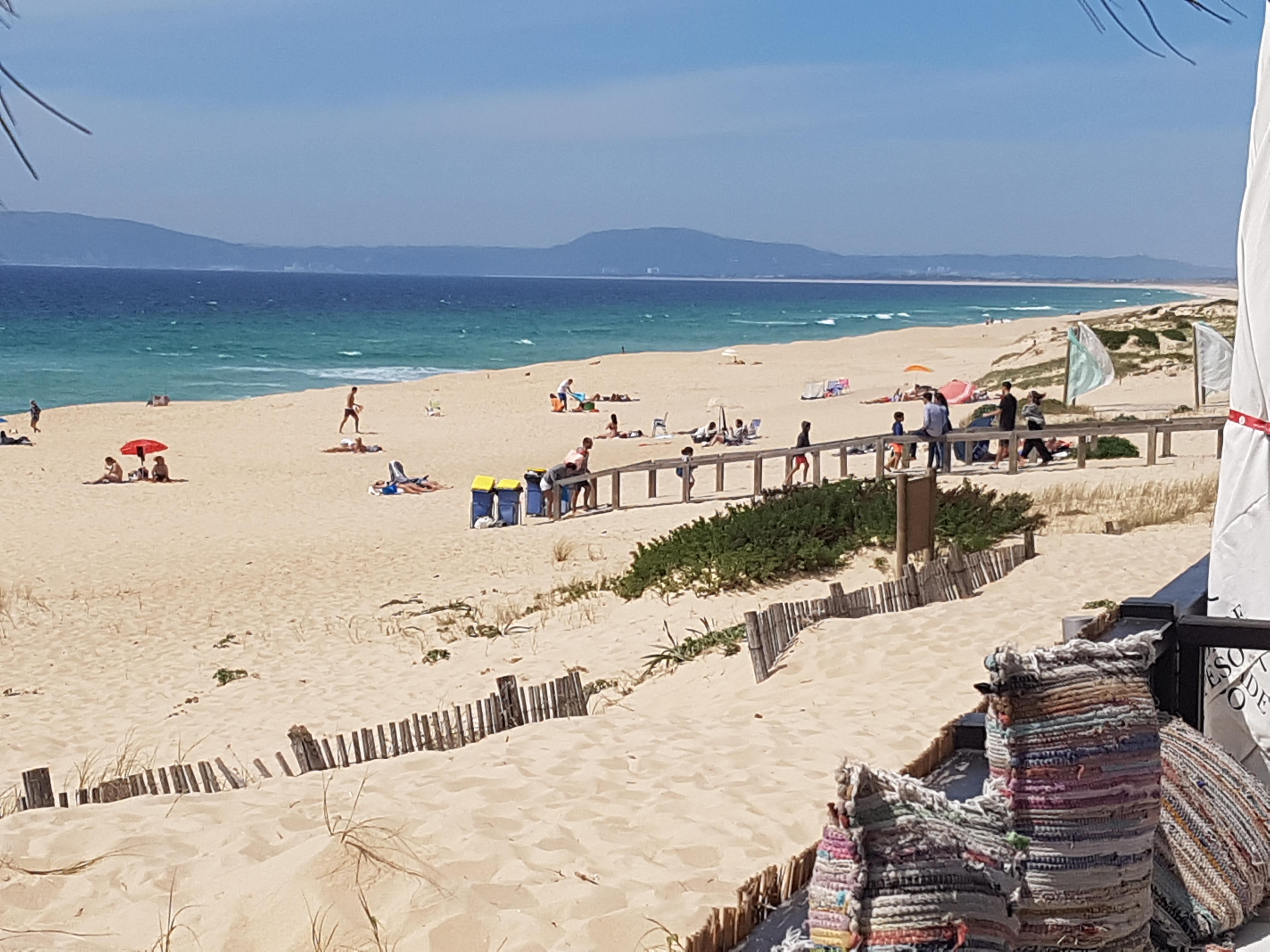 Playa de Comporta desde el Restaurante Ilha do Arroz