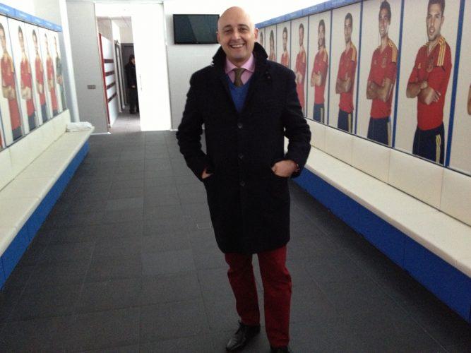 En el vestuario de la roja